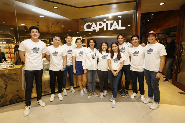 Full line up of Capital's brand ambassadors (left to right) Neil Dy, Marky Mercado, Jarell Lim, Ria Atayde, Capital's Managing Partner, Mae V. Cu Unjieng, Bada La O', Lia Cruz, Carly Laurel, Gino Aganon, Nico Cu Unjieng.