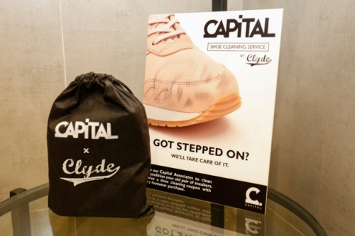 Sneaker care courtesy of Capital and Clyde.